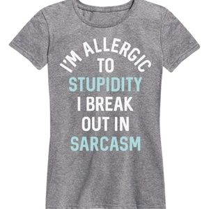 FINAL💵🎉I'm Allergic to Stupidity tee, S & M